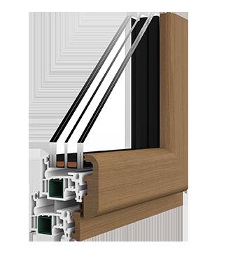 Elite serramenti in pvc alluminio legno fibexinside for Serramenti pvc legno